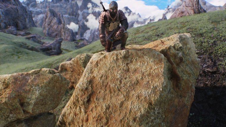 TES V: Skyrim'deki dağı taşı daha önce hiç böyle görmediniz