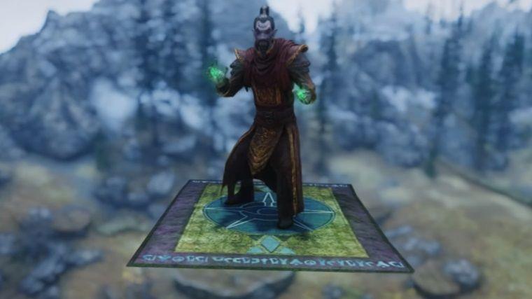 The Elder Scrolls V: Skyrim için uçan halı modu yapıldı