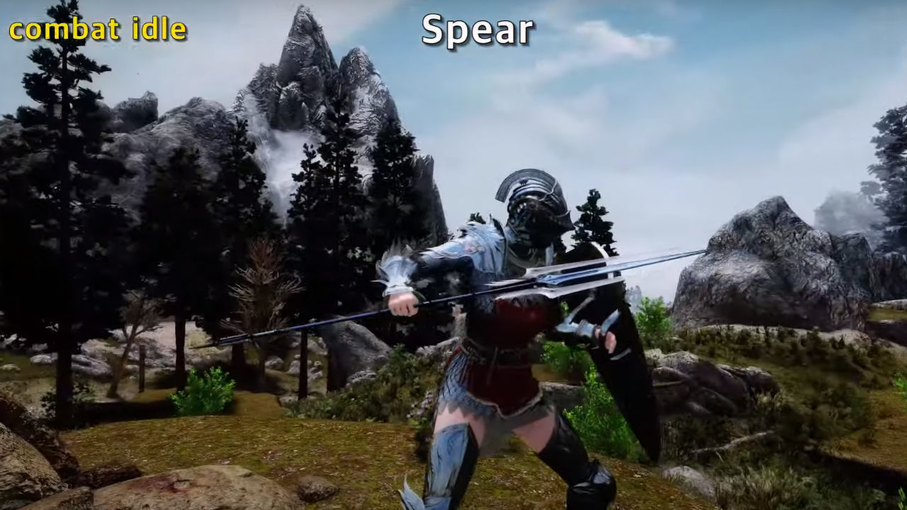Your character animations will change with this Skyrim mod