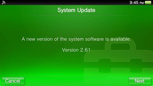 PS Vita'ya güncelleme üstüne güncelleme