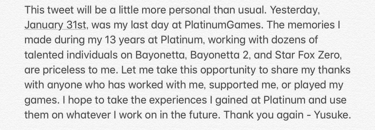 Bayonetta 2'nin yönetmeni Platinum Games'ten ayrıldı