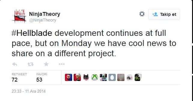 Ninja Theory, gizemli bir proje üzerinde çalışıyor!