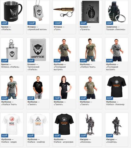 Rusya'da Warface ürünleri satılıyor!