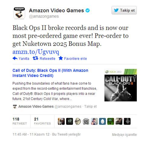 Black ops 2'den daha ilk günden ilk rekor geldi