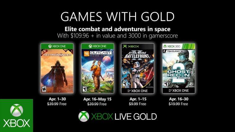 Xbox Live Gold, Nisan ayı ücretsiz oyunları duyuruldu