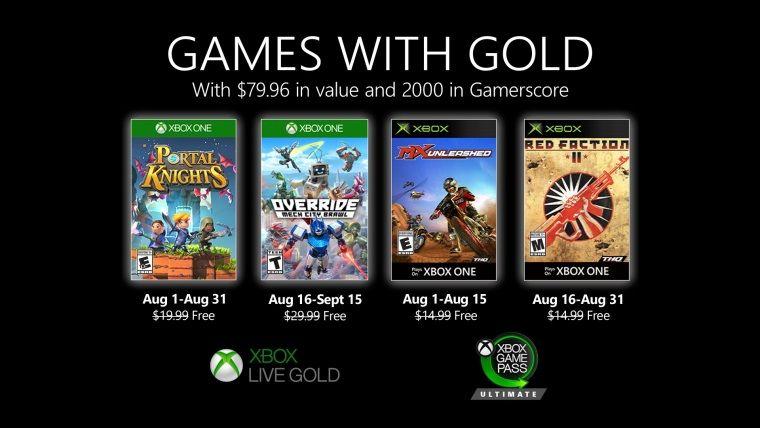 Xbox Live Gold Ağustos 2020 ücretsiz oyunları belli oldu