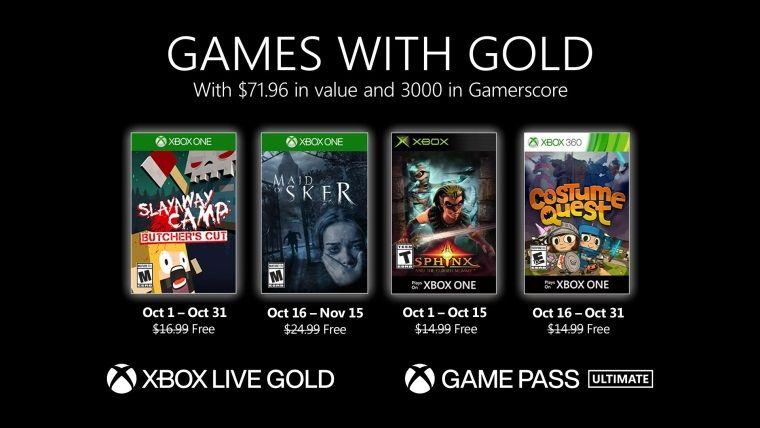 Xbox Live Gold Ekim 2020 ücretsiz oyunları belli oldu