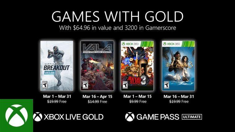 Xbox Live Gold Mart 2021 ücretsiz oyunları belli oldu