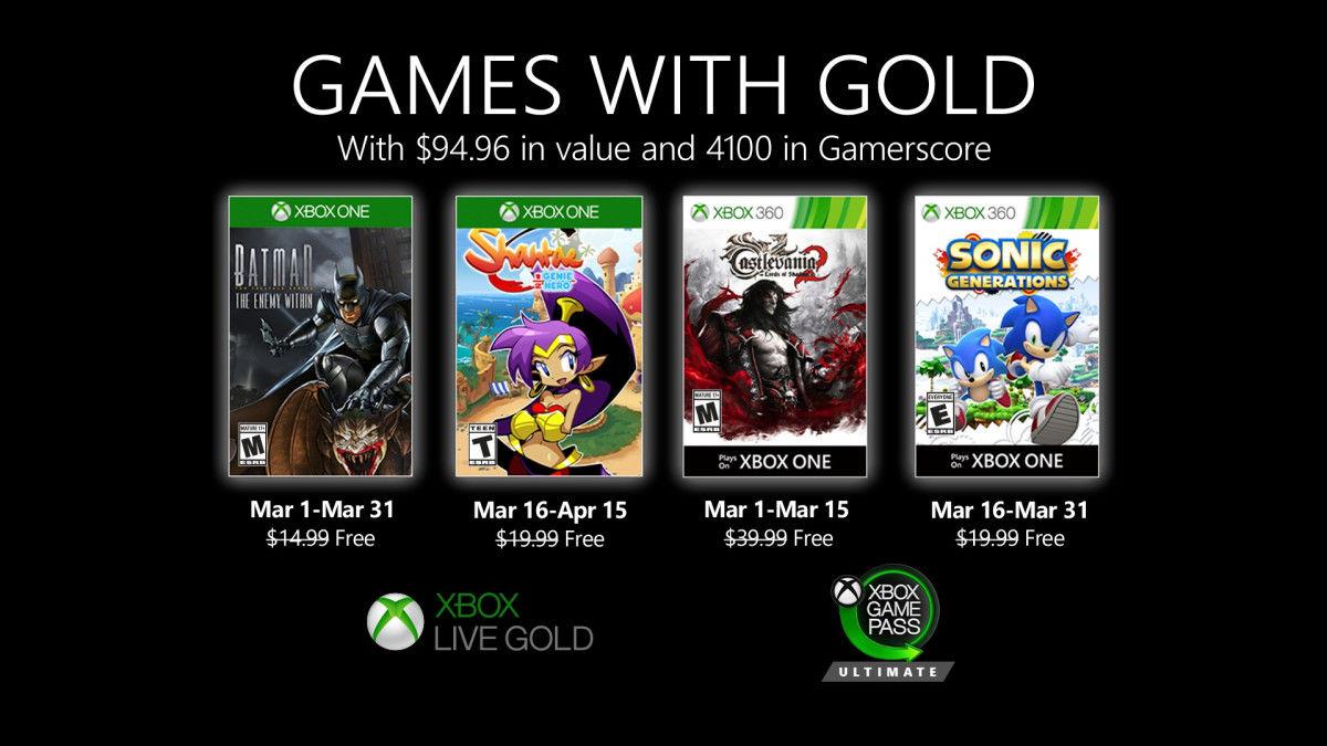 Xbox Live Gold Mart ayı oyunları açıklandı