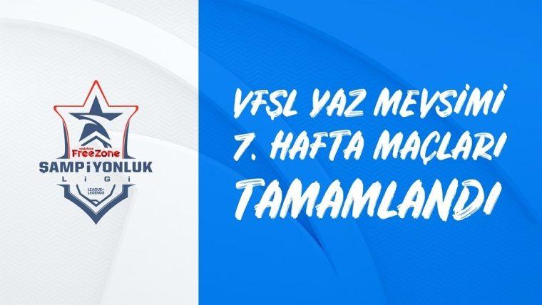 VFŞL 7.haftanın ardından Galatasaray Espor liderliği devam ediyor