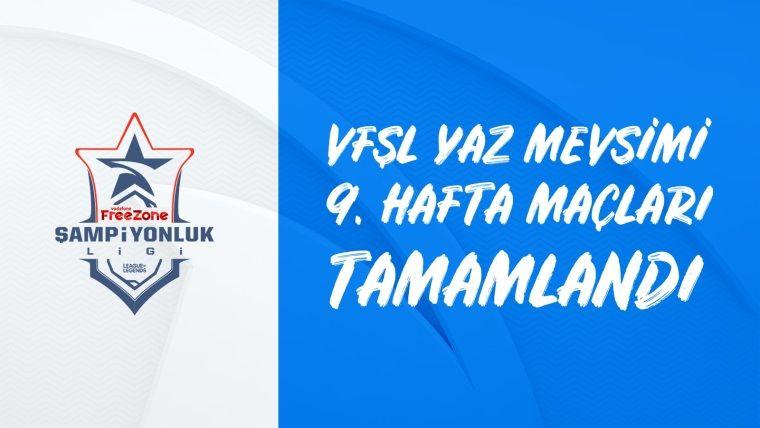 VFŞL'de lig aşaması sona erdi