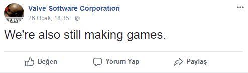 Valve: Oyun geliştirmeye devam ediyoruz