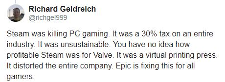 Eski Valve geliştiricisi, Steam'e karşı Epic Games'i savundu