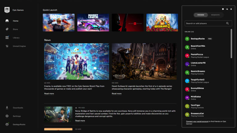 New features added for Epic Games Store