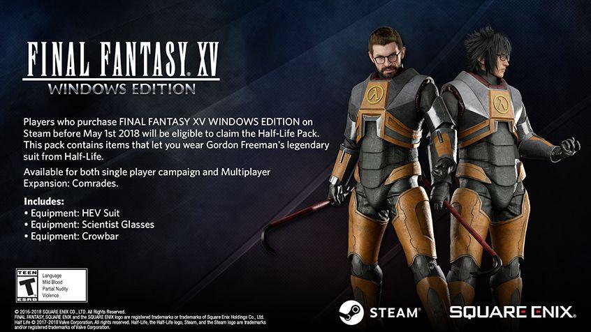 Gordon Freeman'ın, Final Fantasy XV içerisinde ne işi var?