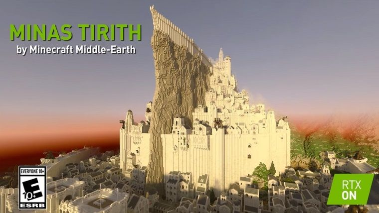 Minas Tirith, Minecraft ile yeniden yapıldı