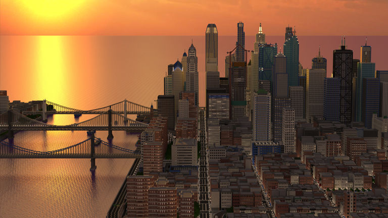 He designed a city every three years alone in Minecraft