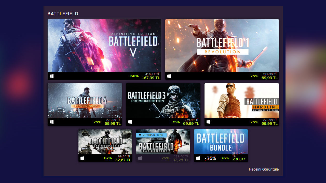 EA games are on sale on Steam