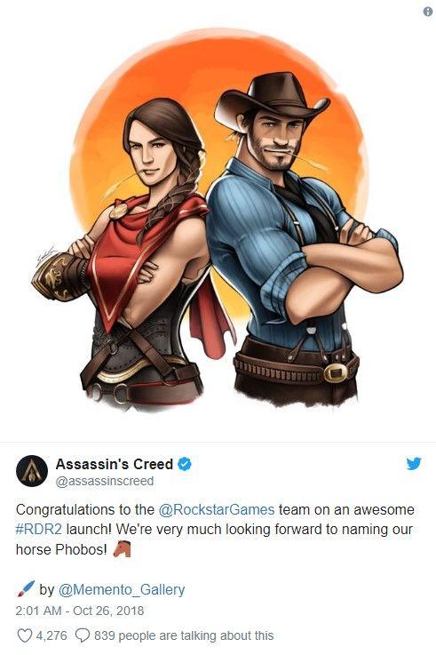 Ubisoft, Rockstar Games'i tebrik etmeyi unutmadı