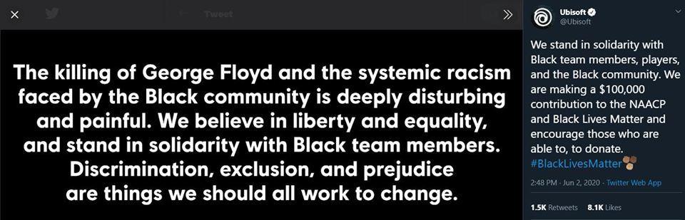 Ubisoft ırkçılığa karşı 100.000 Dolar bağış yaptı