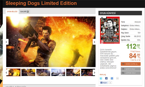 Sleeping Dogs Limited Edition Playstore'da!