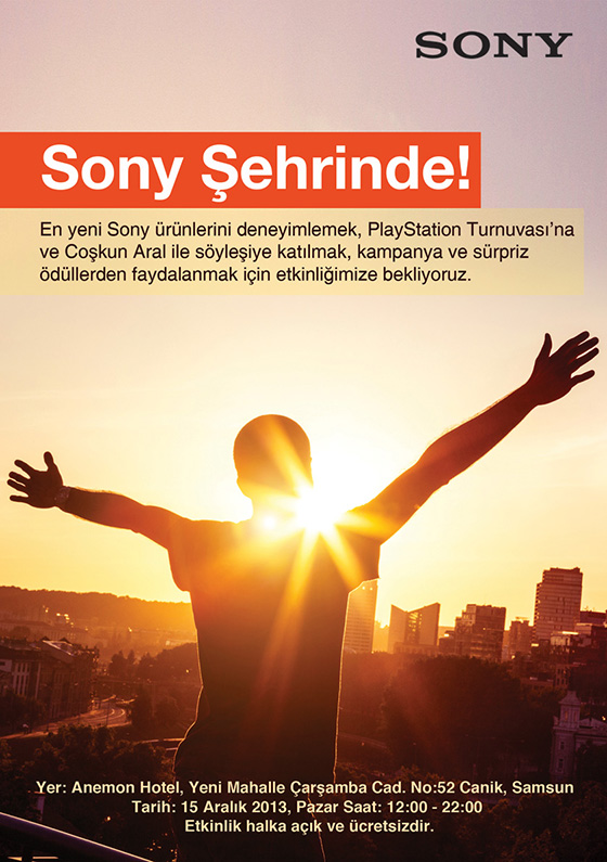 Sony eğlenceyi Samsun'a taşıyor