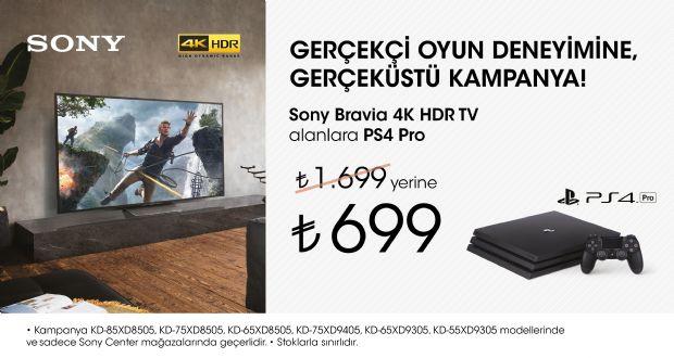 Sony 4K televizyon alanlara PS4 Pro yalnızca 699TL!