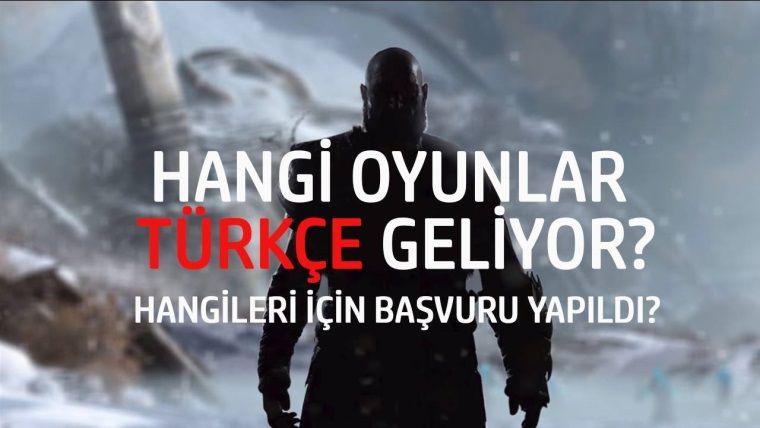PS4'e hangi oyunlar Türkçe gelecek?