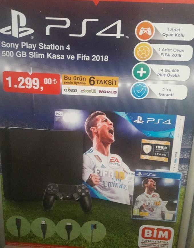 BİM, FIFA 18'li PS4 Slim satmaya hazırlanıyor