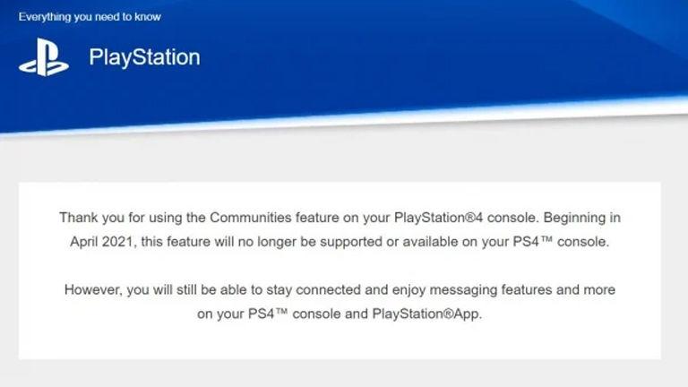 PlayStation Topluluklar özelliği kaldırılıyor