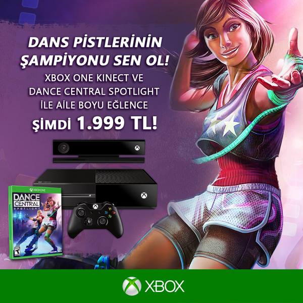 Xbox One'ın Kinect'li, Dance Central bundle'ı sadece 1.999 TL!