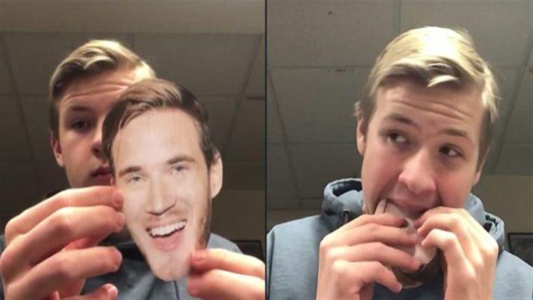 Videolarında PewDiePie'ın fotoğrafını yiyen çocuğun sonu geldi