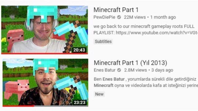 Enes Batur'un yeni Minecraft videosu hacklendi!
