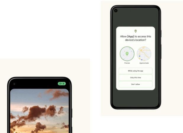Android 12 kamera, mikrofon ve konum ayarları