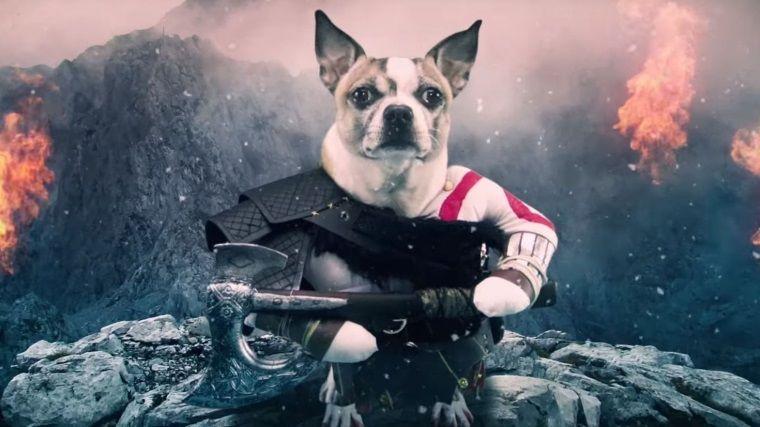 God Of War'ın yeni reklam filminde başrolde köpek Kratos var