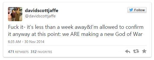 """David Jaffe, """"God of War yapıyoruz!"""" dedi, ortalık karıştı!"""