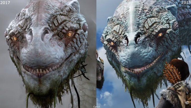 God of War, 2016 vs 2017 vs 2018 grafik karşılaştırması