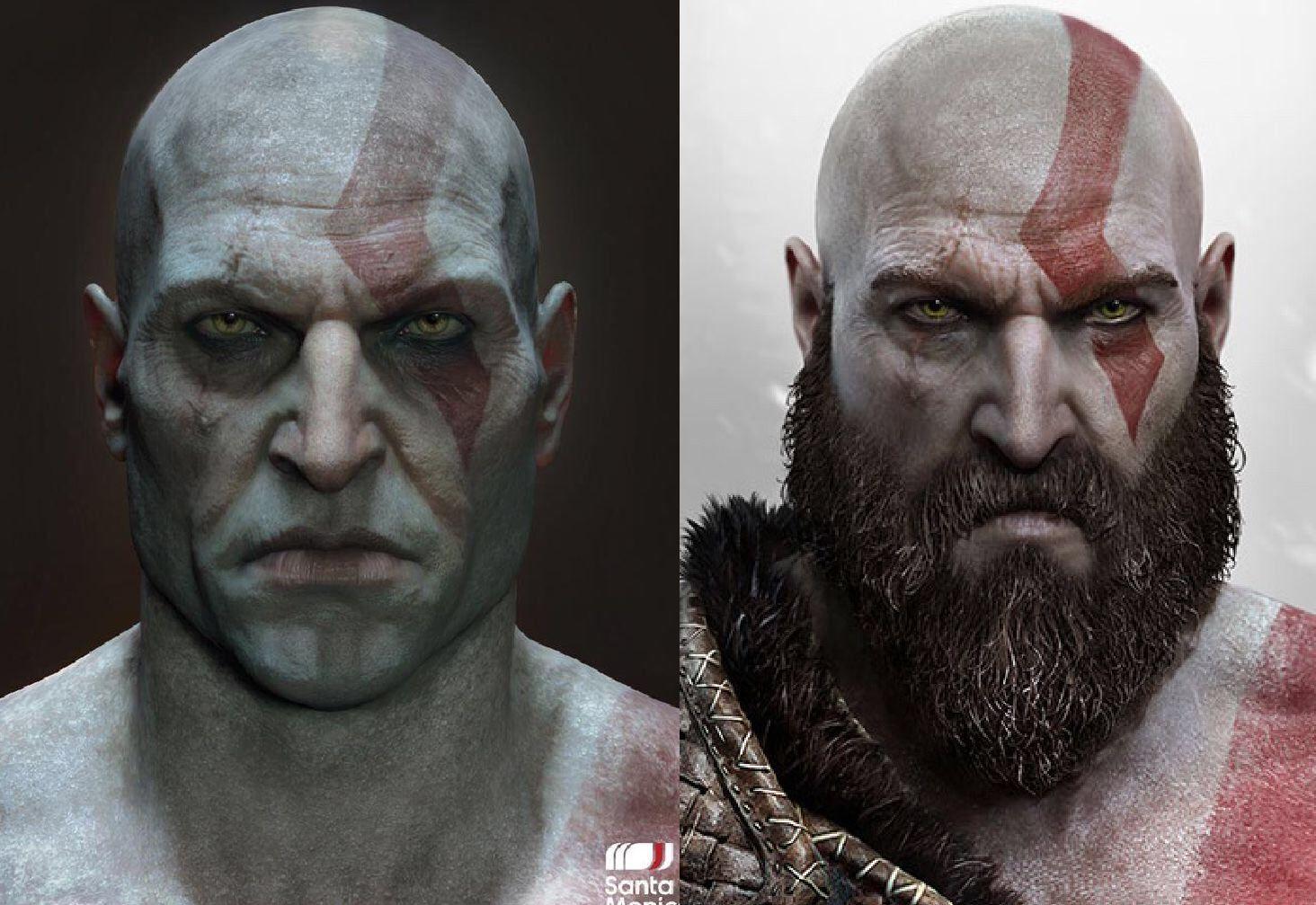 Kratos yeni oyunda sakal ve bıyıksız olarak nasıl gözükürdü?