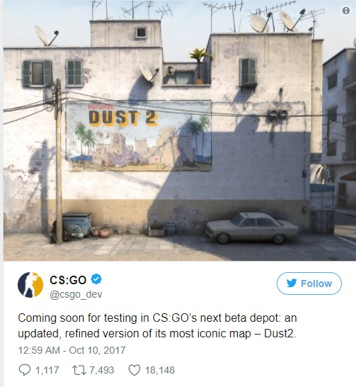 Efsanevi Dust 2 haritası tamamen değişiyor