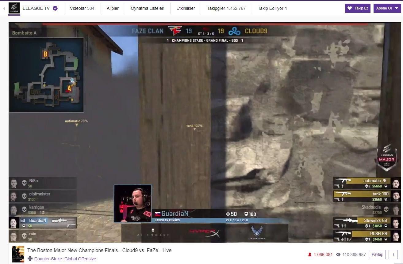 CS:GO finalini 1 milyon kişi canlı izledi