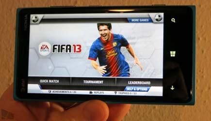 FIFA 13, Windows Phone 8'li cihazlarda oynanıyor