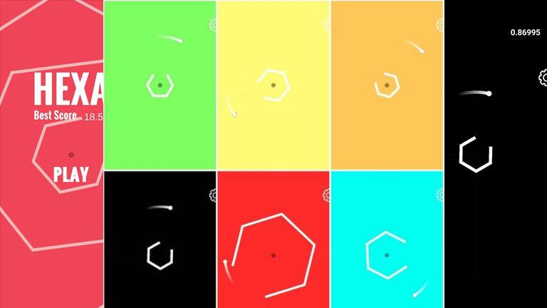 Native mobile game: Hexa - Battle against shapes