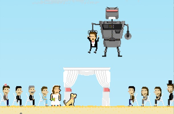 Düğünleri için oyun yapan nişanlılar!