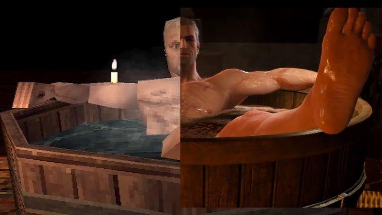 Witcher 3 PS1 oyunu olsaydı işte böyle görünürdü
