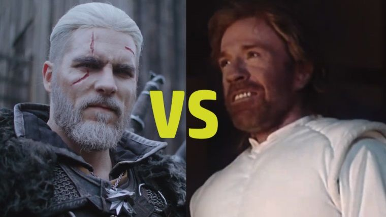 Rivialı Geralt bu sefer de Chuck Norris'e karşı