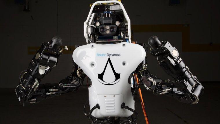 İnsansı Robot Atlas'ın Ezio'ya meydan okuyan parkur performansı