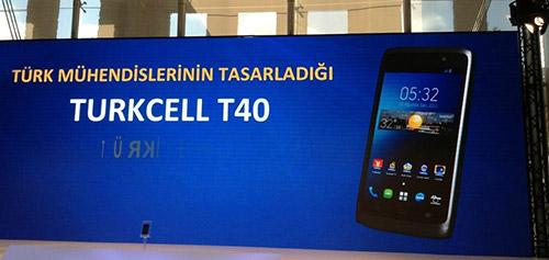 Türkiye temelli akıllı telefon T40 Gebze sizlerle