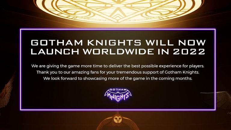 Gotham Knights release date postponed to 2022