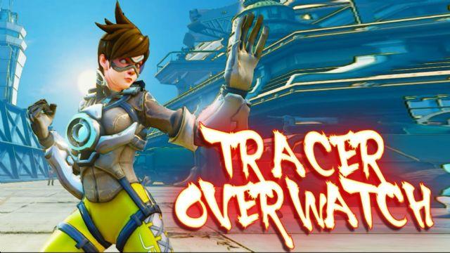 Street Fighter V'e Overwatch karakteri Tracer mod'u geldi