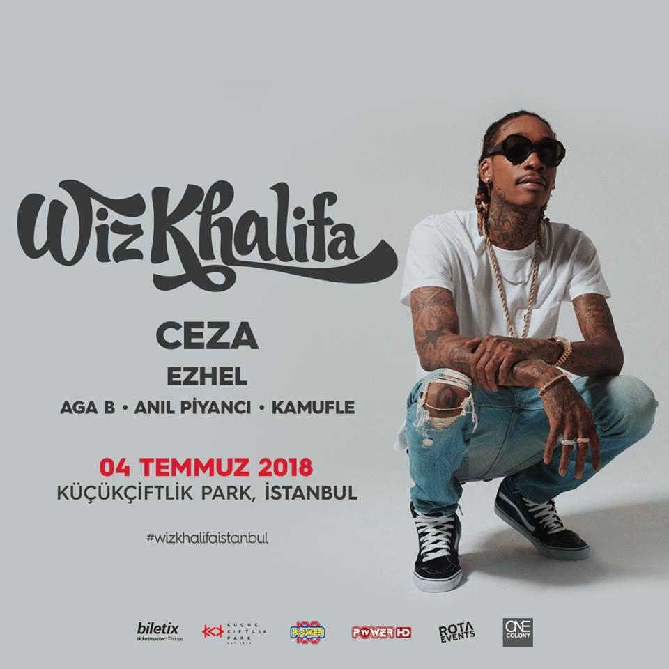 Ünlü rap sanatçısı Wiz Khalifa konser için ülkemize geliyor